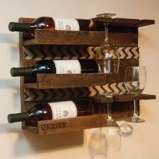 wooden wall mounted wine rack