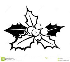 Hulst Bessen Kleurplaat Zwart Silhouet Van Hulst Vector Illustratie