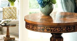 vintage white medallion round accent table tables coffee and consoles kitchen delightful hand crafted for any