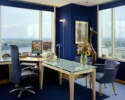 blue office decor. living room home office workspace furniture blue dark colour decor a