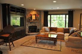 corner fireplace living room design