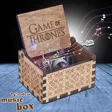 Engraved Wooden Music Box Game Of Thrones GAME OF THRONES Music Box Engraved Wooden Music Box Crafts Kid 32