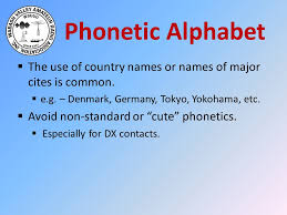 Learn the target words in the nato phonetic alphabet to make spelling out names, address, confirmation numbers, and more much easier! Technician License Class Chapter 6 Communicating With Other Hams Ppt Download