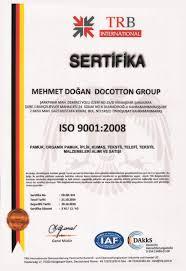 Sertifikalar Docotton Group İthalat İhracat San Ve Tic A Ş