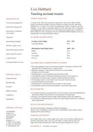 Teaching Assistant Cv Sample Teacher Cv Example School Children