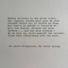 The Great Gatsby Love Quotes Magnificent F Scott Fitzgerald Great Gatsby Quote Hand Typed On Typewriter