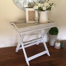 Butler Tray Coffee Table Rattan Butlers Tray Table White Humble Home