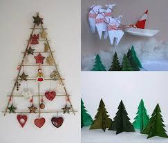 handmade christmas tree for wall decoration