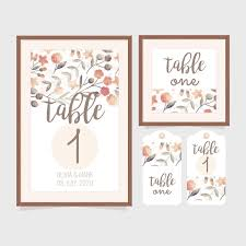 Table Number Design Wedding Table Numbers Free Vector Art 20 Free Downloads