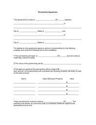 Sample Partnership Agreement Form Printable Sample Partnership Agreement Form In 2019 Real
