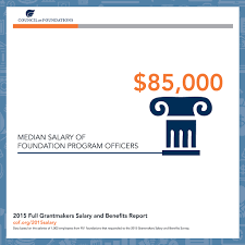 new report on u s foundations salary and benefits council on median salary of foundation program officers is 85 000