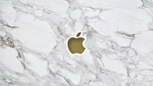 Marble Apple Logo Wallpaper