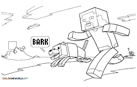Small Picture Minecraft Coloring pages for kids to print color