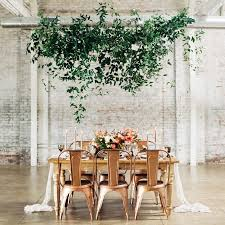 amazing hanging greenery installations for your wedding