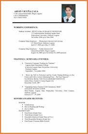 Simple Decoration Resume Format For Job Pdf Resume Samples Nice Job