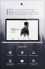 Personal Contact Template Brendon Minimal Personal Portfolio Website Template