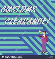 Imports Business Word Writing Text Customs Clearance Business Photo