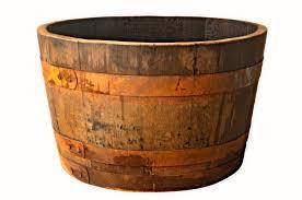 natural finish half barrel