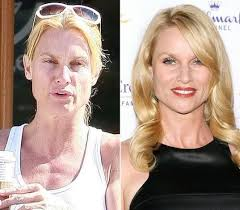 30 fairly shocking pictures of celebrities without makeup no photo vs photo nicolette sheridan my eating disorder recovery board