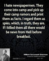 Tecumseh Quotes Custom William Tecumseh Sherman Quotes QuoteHD