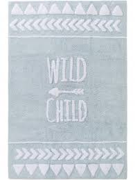 lytte inka wild child kid s rug light blue benuta co uk fashion for floors