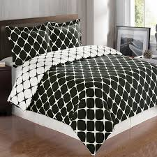 bloomingdale black and white duvet cover set