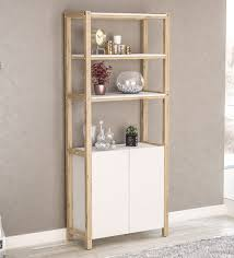 bahama book shelf cabinet in white finish by mintwud modern book shelves book shelves furniture pepperfry