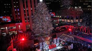 Cbs Christmas Tree Lighting Tis The Season Rockefeller Center Christmas Tree Lights Up