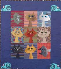 592 best Cat Quilts images on Pinterest | Artists, Fabric art and ... & We& so excited to be posting a new Free Pattern Day. Here is a purr -fectly  wonderful collection of cat and dog quilts ! Adamdwight.com