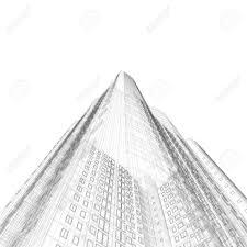 architecture blueprints skyscraper. Architecture Blueprint Of Construction Skyscraper On White Background Stock Photo - 5621778 Blueprints B