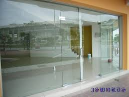 tempered glass door and frameless fixed panel front