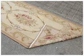 aubusson rug antique french pastel runner