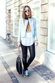 light blue leather jackets black skinny jeans white tee blue light jacket light blue leather jacket zara