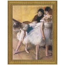 before the rehearsal 1880 by edgar degas framed painting print
