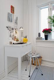 vintage shabby chic inspired office. Cool Office In Apartment Sweden With Metallic Barstool Complementing White Desk Exotic Wall Arts Glossy Vintage Shabby Chic Inspired Y