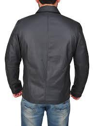 mauvetree men black shirt collar jacket mauvetree men lapel collar black leather jacket