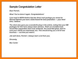 Congratulation Letter For New Job Congratulations Letter For New Job On Congratulation Sample 154 1