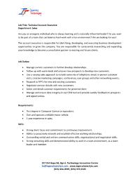 Account Management Job Description JOB ADVT Technical Account Executive Sales UTech Alumni Blog 5