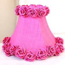 lamp shades pink silk dupioni shade with roses hot by a vintage light 19