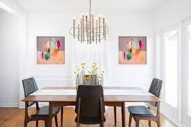 It is large and heavy, creating a majestic and commanding atmosphere in the room. 20 Ways To Dress Up Dining Room Walls Dining Room Wall Decor Hgtv
