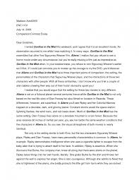 compare and contrast essay layout college comparison example how