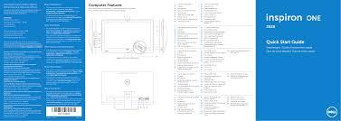 Dell Disco Light Dell Inspiron One 2020 Windows 7 Quick Start Guide 20 Aio