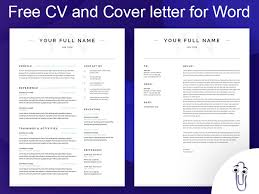 Word Cover Letter Template Free Free Cv Cover Letter For Word By Cv Examples On Dribbble