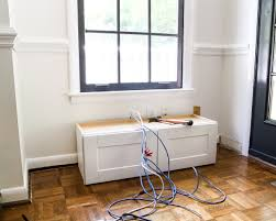Window Seat Diy Window Seat From A Kitchen Cabinet Blesser House