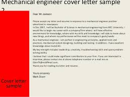 Collection Of Solutions Cover Letter Mechanical Engineering Graduate