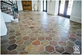 trendy ideas mexican tile floor and decor rustico stone manganese hexagon saltillo terracotta flooring home depot