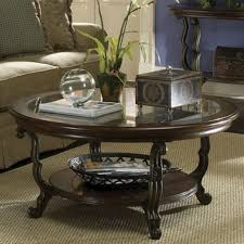 bright look modern round coffee table measuring up decoration genoa with glass top dark espresso she