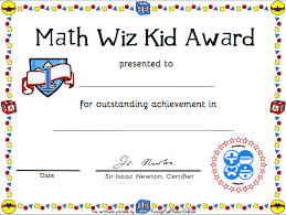 certificates of completion for kids printable math certificate of achievement