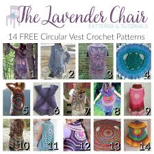 Crochet Circular Vest Pattern Free Beauteous 48 FREE Circular Vest Crochet Patterns The Lavender Chair