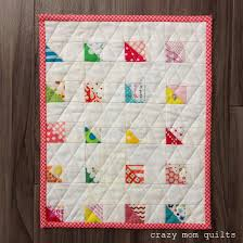 crazy mom quilts: miscellaneous Monday & I also made a 9 patch mini quilt, which took slightly less time. The  squares in the 9 patch blocks finish at 1